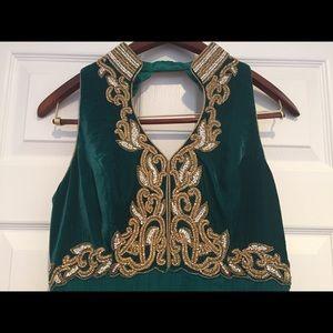 Emerald Green Anarkali (Indian Dress)